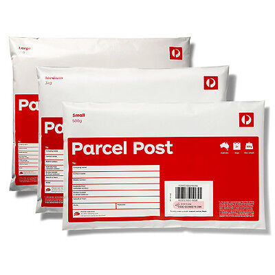 Parcel Post Small Prepaid Satchel (500g) 100 Pack +Invoice