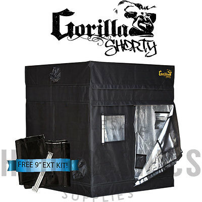 "Gorilla Grow Tent SHORTY 5' x 5' x 4' 11"" GGT w/ FREE 9"" Height Extension"