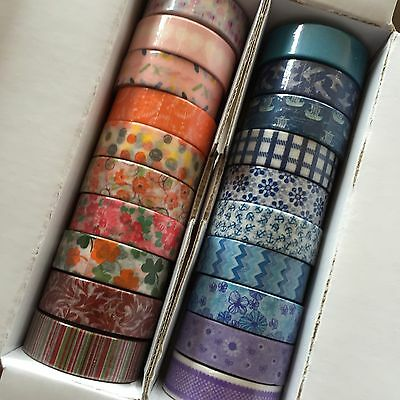 Washi Tape 10 Roll Starter Pack Cool Colours 15Mm Scrapbooking Craft Wrap Plan