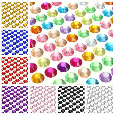 3mm/4mm/6mm Assorted Colors Gems Self Adhesive Stick on Crystals Rhinestone Hot