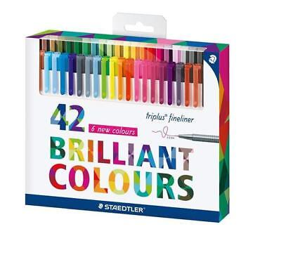 42 X Staedtler Fineliner Triplus 334 Brilliant Colours Kreative Auszeit Top!!!