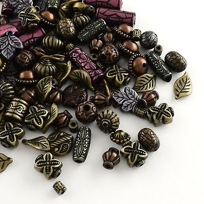 50x Antique Style Acrylic Beads Mixed Style Mixed Color(MACR-R546-03)