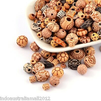 50x Antique Style Acrylic Beads Mixed Style Mixed Color(MACR-R546-02)