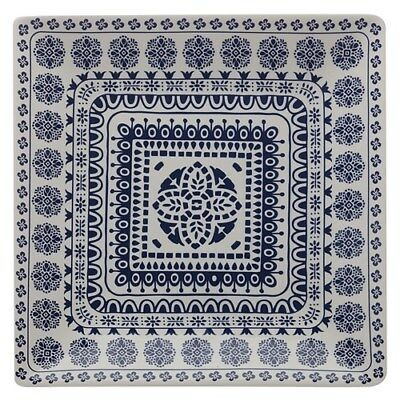 New Maxwell & Williams Blue Antico 34cm Square Platter Gift Boxed