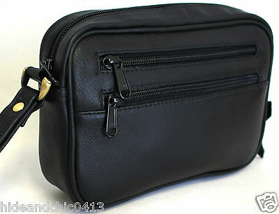Genuine leather  Man Bag. Black.Sty:51012.