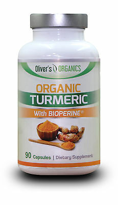 Organic Turmeric/Curcumin With Bioperine (For Absorption) Anti-Inflammatory