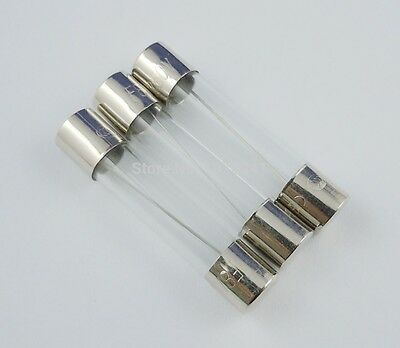 6 x 30mm 12V Car Glass Fuse Fuses 2A 5A 10A 15A 20A 2 5 10 15 20 Amp