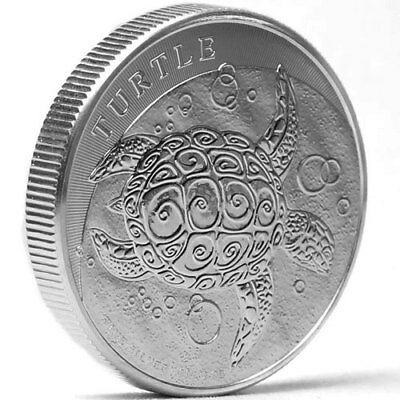 Niue 5 dollars Argent 2 onces Tortue 2016 2 oz silver coin Turtle