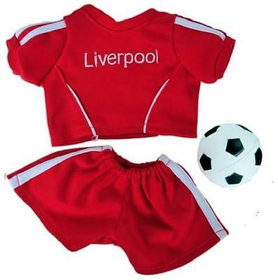 "15"" Liverpool Football Soccer Outfit Fits 16""/40Cm Teddies & Build Your Own Bear"