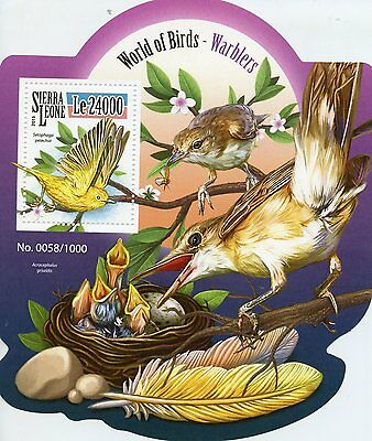 Sierra Leone 2015 MNH Warblers 1v S/S American Yellow Warbler Birds Stamps