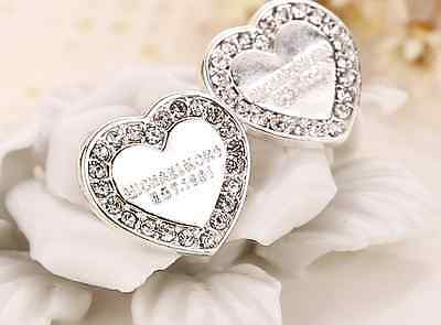 Fashion Jewelry Rhinestone Crystal Silver Ear Stud Drop Earrings Earring