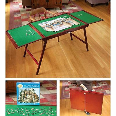 Fold and Go Wooden Jigsaw Puzzle Hobby Table