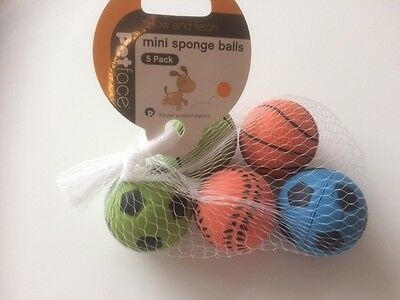 Mini Sponge balls for dogs (pack of 5) Approx 4.5cm Diameter
