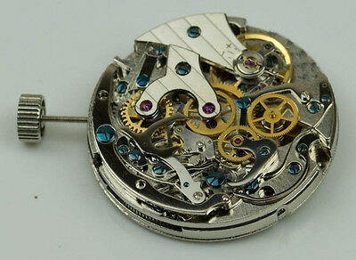 Chronograph manual wind movement seagull ST1903 24 hour dial 20 jewels venus 175