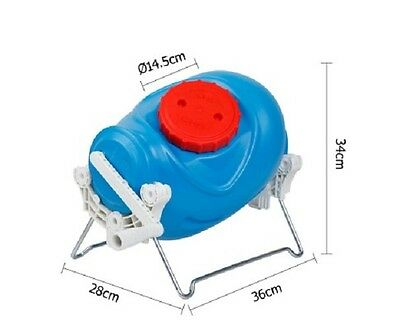 12 L Portable Manual Washer Blue Gallon Poly Storage Plastic Tanks Automatic