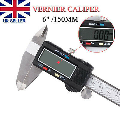 6 inch 150 mm Metal Vernier Digital Electronic Caliper Ruler Tool LCD Electronic