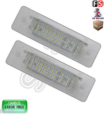 Porsche Number Plate Lights 911 968 Boxster Led White 18Smd Canbus Error Free
