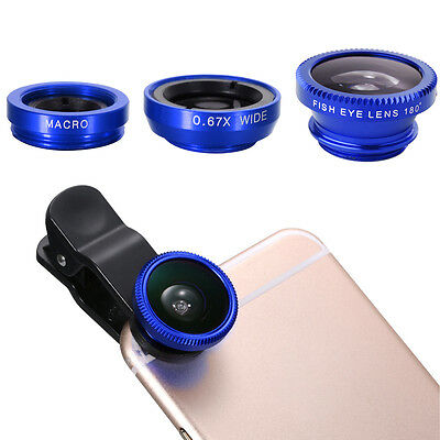 Fisheye Wide Macro Cell Mobile Phone Camera Photo Lens Clip For iPhone DC526