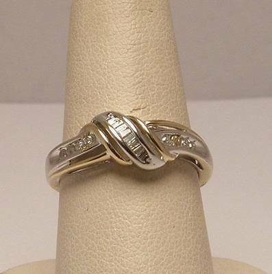 Diamond Channel Set Band Set in 10K White and Yellow Gold