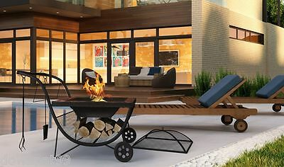 Phoenix Portable Outdoor Fire Pit & BBQ Firepit Barbecue Fire Pits NEW