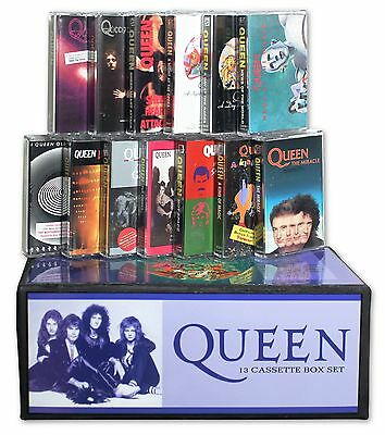 QUEEN - 13 cassette custom box set lot (1991 Hollywood Records re-issues)