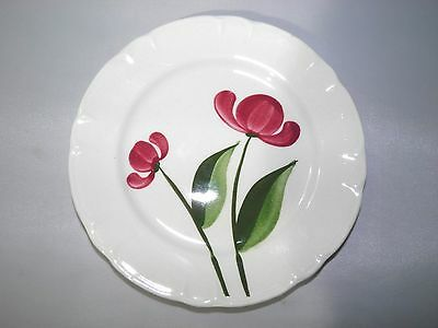 Stetson Pottery Heritage Dinnerware Pink Flower Hand Painted bread plate STT333