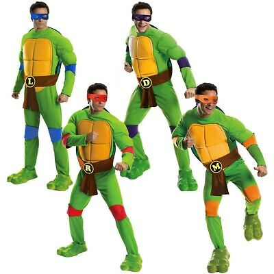 Teenage Mutant  Ninja Turtle Costume Adult TMNT Halloween Fancy Dress