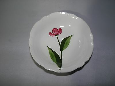 Stetson Pottery Heritage Dinnerware Pink Flower Hand Painted Berry Bowl STT333