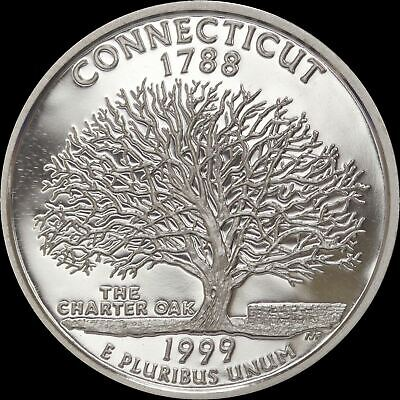 1999 S Connecticut State Quarter Gem Proof Deep Cameo CN-Clad Coin