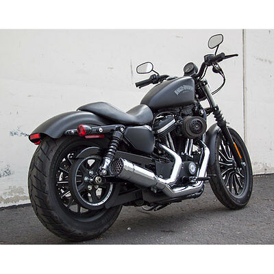 Firebrand FiftyTwo52 Chrome Exhaust 2:1 for 2004-2015 Harley Sportster XL Models