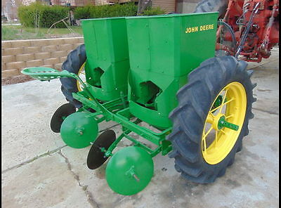 JOHN DEERE 212 POTATO PLANTER 2 ROW - LATE 50s RESTORED IN 2016