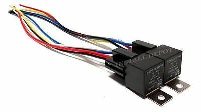 """4 Pcs Premium Spdt 40A Relays & Long Wire Sockets 12V Car Alarm Relay 12"""" Leads"""