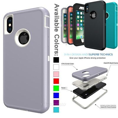 Heavy Duty Hybrid Rugged Protective Case Cover For iPhone XR XS Max 8 7 6S Plus