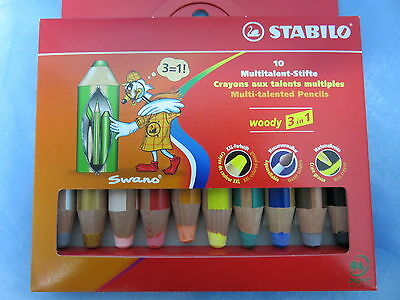 STABILO * 10 Multitalent-Stifte * woody 3 in 1 * 4006381185646