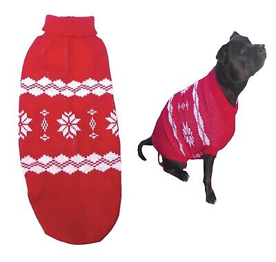 Large Dog Jumper Red  XL 2XL 3XL - Sweater Pjs Clothing Pet Jacket Coat Staffy