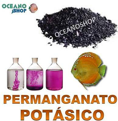 Permanganato Potasico 10Gr Desparasitar Peces Disco Parasitos Cuarentena