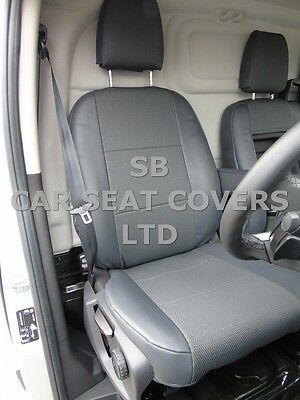 To Fit Ford Transit Van Seat Covers Swb Oem 162 Fabric + Leatherette Trim
