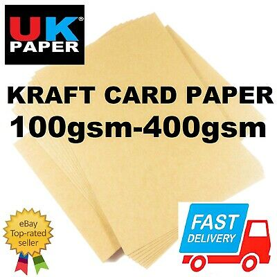A6 A5 A4 A3 A2 Brown Kraft Card Stock Blanks Tags Craft Making Printer Paper Lot