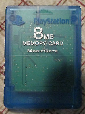 Genuine Play Station 2 PS2 8MB Memory card Blue SCPH-10020