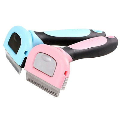 Pet Cat Dog Hair Deshedding Comb Grooming Brush Rakes Tool ABS Handle Welcome