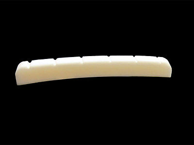 "Slotted Bone Nut for Strat/Tele style guitars 7.25"" or 10"" Radius Curved Bottom"