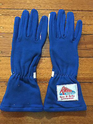 Race & Rally Rmm  Blue Nomex Gloves Fia Approved Size 11(Large)