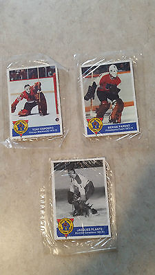 Still Wrapper*1993/94 High Liner Greatest Goalies Lot Plante Esposito Parent!!!
