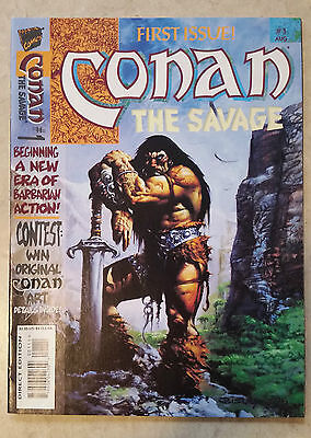 Conan The Savage #1 1995 A Marvel Magazine HIGH GRADE!!! RARE BISLEY ART!!!