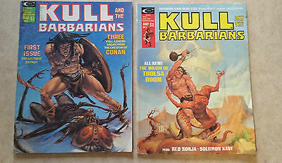 KULL AND THE BARBARIANS 1975 #1-2  2 Issues A Marvel Magazine LOW GRADE