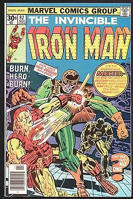Iron Man #92 NM- 9.2 The Melter!!