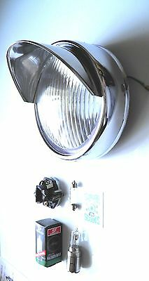 Headlight. Innocenti/cev Marks.stainless Steel Peak For  Lambretta Li Series 2.