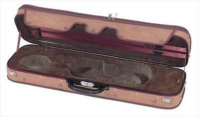 GEWA Pure Oblong Violin Case CVK 04 Brown/Green, 4/4 Full Size **NEW**