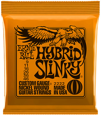 Ernie Ball Hybrid Slinky 09-46 Electric Guitar Strings or Single Strings 2222