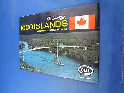 Gananoque Boat Line Travel Booklet Beautiful 1000 Islands Canada Souvenir